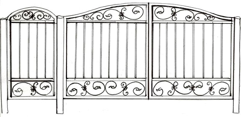 Ворота и калитка «Вилла»