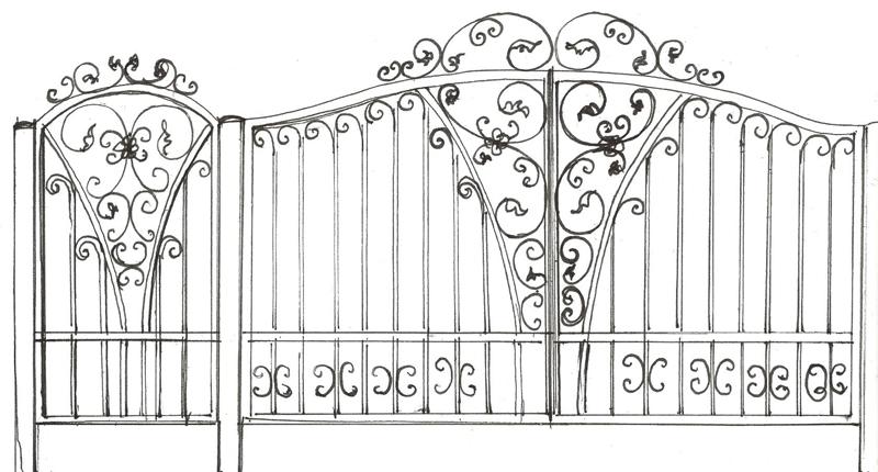 Ворота и калитка «Поместье»