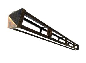 Заборный столб 120х120 серия Эстет